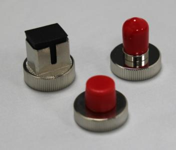 Set med SC, FC & FT Screw on Adaptore for FiberTek III/IV