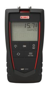 KIMO MP111S. Differenstrykmanometer: 0…±1000 mmH2O