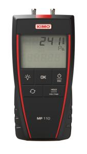 Kimo MP110S. Differenstrykmanometer: 0...±1000Pa