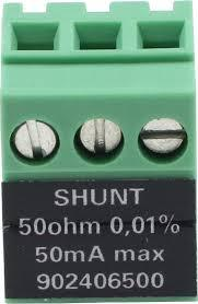 Shunt 50 ohm for DAS2XX datalogger